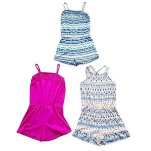 Lot of Girl's Tank Top Rompers Size 7/8